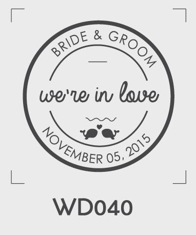 ตราปั๊มงานแต่ง WD040