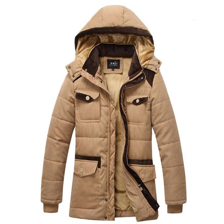 พร้อมส่ง เสื้อโค้ทผู้ชาย สีกากี บุขนด้านใน มีฮู้ด ใส่กันหนาว ใส่ไปเที่ยวต่างประเทศได้