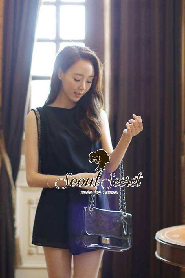 Classic Korea Style Black Jumpsuit by Seoul Secret