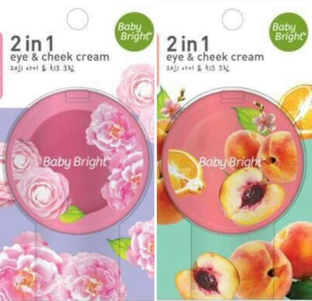Baby bright 2 in 1 eye & cheek cream