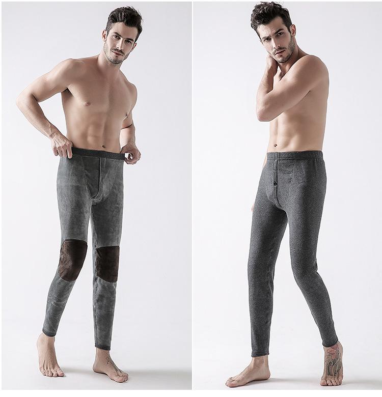 พร้อมส่ง Long John กางเกงลองจอนห์ผู้ชาย สีเทาเข้ม กางเกงขายาว