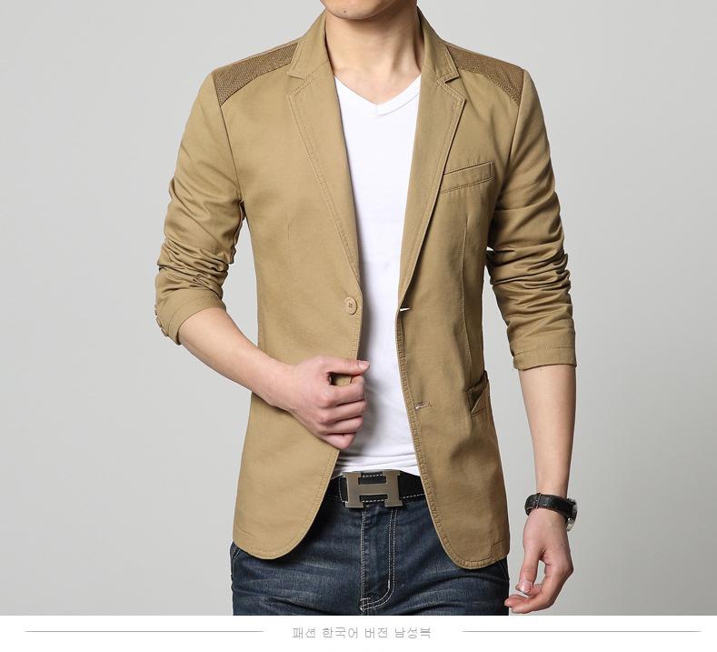 เสื้อสูทผู้ชาย สูทลำลอง สีน้ำตาล คอปก แต่งไหล่และกระเป๋าเสื้อ ออกแบบเท่ห์ แต่งกระเป๋าหลอก มีซับใน กระดุม 2 เม็ด ใส่ทำงาน สูทออกงาน หรือใส่เป็นสูทลำลองได้
