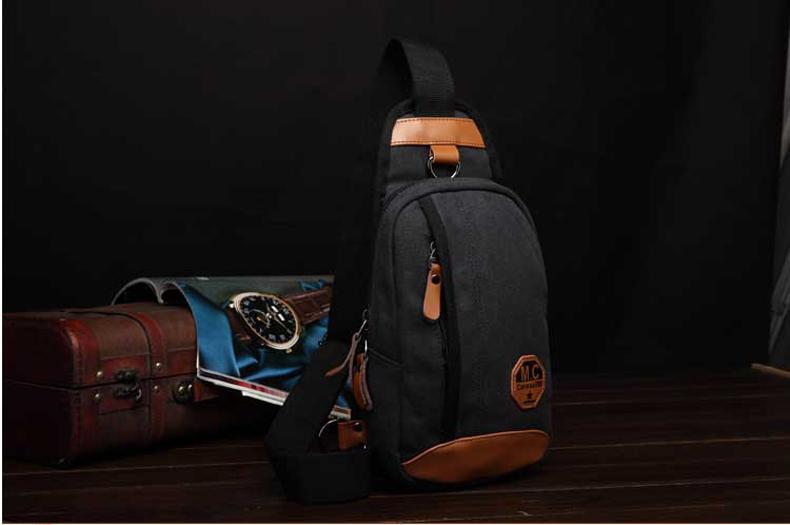 กระเป๋าคาดอกสีดำ