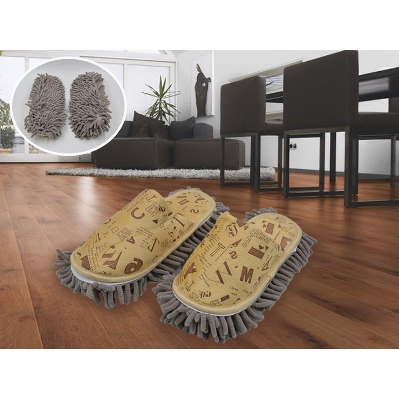 แถมฟรีรองเท้าถูพื้น Microfiberสีครีมเหลือง