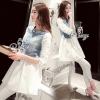 Sevy Mix Genda Denim Pearl Long Sleeve Shirt
