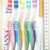 แปรงสีฟันอย่างดี 5 ชิ้นแผง (ขนนุ่ม) 25 ซม.
