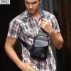 พร้อมส่ง กระเป๋าคาดอกผู้ชาย กระเป๋าหนัง PU สีดำ กาแฟ น้ำเงิน จุของได้เยอะ มีช่องเก็บของด้านหน้า สายปรับได้