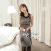 Lady Lesslie Sweet Houdstooth Tweed Dress