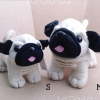 Pug Softy Toy - M WHITE