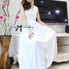 Lady Ribbon's Made Lady Ellen Insert Lace Chiffon Maxi Dress