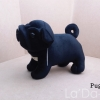 Pug Softy Toy - S BLACK