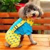 ชุดสี่ขาสุนัข ทูโทนลายจุด สีฟ้า-เหลือง พร้อมส่ง