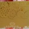 WC5854 การ์ดสีทอง ขนาด 5.5x7.5 นิ้ว แบบ 3พับ (การ์ด+ซองครีม)