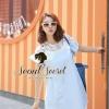 Lovely Light Blue Jeans Topper Lace Dress by Seoul Secret