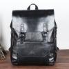 พร้อมส่ง กระเป๋าเป้ สีดำ หนัง PU แบบซิป มีฝาพับ มีกระเป๋าเล็กเก็บของด้านหน้า แบบกระดุมแป๊ก