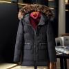 พร้อมส่ง เสื้อโค้ทขนเป็ด สีดำ มีฮู้ดแต่งเฟอร์ โค้ทผู้ชาย แต่งซิปกระเป๋าสีเงิน ด้านข้างผ่าข้างเท่ห์ ใส่กันหนาว กันหิมะได้