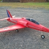 tw-750 Red arrows เครื่องบินไอพ่นพลังสูง