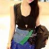Seoul Secret Say's ... Luxy Premium Grade Tripple Blue Lace Fuse V top Dress