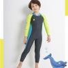 ชุดว่ายน้ำเด็ก ชุดว่ายน้ำกลางแจ้ง แขนยาว ขายาว กัน UV สีเขียว