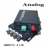 RG6 TO Fiber Converter 4 Channel สำหรับกล้องวงจรปิด 20KM