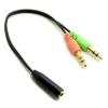 ขาย สายแปลง หูฟังมือถือ ให้ใช้กับ PC หรือ Notebook แบบ 3.5mm รองรับไมค์โครโฟน
