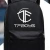 กระเป๋าเป้สะพายหลังสีดำ - TFBOYS