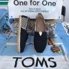 รองเท้า toms สีดำคาดลายทางแต่งเชือกปอรอบส้นรองเท้า งานเกรดพรีเมี่ยม