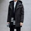 พร้อมส่ง เสื้อโค้ทผู้ชาย โค้ทยาว สีดำ มีฮู้ด คอปก แขนยาว มีกระเป๋าข้าง มีซับใน ใส่กันหนาว ใส่กันหิมะ