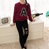 กางเกงเลกกิ้ง สีดำ สกรีนลายแมวที่หัวเข่า size 120/130/150/160