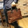 พร้อมส่ง กระเป๋าหนังPU สีน้ำตาล กระเป๋าสะพาย กระเป๋าถือใส่เอกสาร ใส่ไปทำงานได้