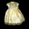 ชุดเดรสเด็กหญิงเบบี้สีครีมทองสำหรับเด็กเล็ก