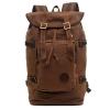 กระเป๋าเป้สะพายหลัง สีกาแฟ ผ้าแคนวาน กระเป๋าเป้ใบใหญ่สามารถใช้เป็นกระเป๋าเดินทางได้ จุของได้เยอะ