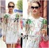 Lady Ribbon's Made Lady Sarah Sweet Spring Sakura Print Cotton Dress