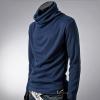 พร้อมส่ง เสื้อคอเต่าผู้ชาย สีน้ำเงิน ใส่กันหนาว