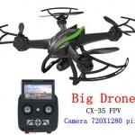 CX-35 Phantom FPV 5.8 gz Big Drone/ขึ้น-ลง ออโต้ ปรับหน้ากล้องได้