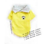 เสื้อโปโลน้องหมา ผ้าหนานุ่ม สีเหลือง