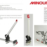 MINOURA : Front Wheel Holder : Supports the removed front wheel