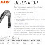 ยางนอก MAXXIS : DETONATOR 700x25c ขอบลวด