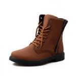 พร้อมส่ง รองเท้าบูทผู้ชาย รองเท้าหนัง รองเท้าหุ้มข้อ สีน้ำตาล แบบผูกเชือก ใส่แบบสุดเท่
