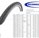 """ยางนอก SCHWALBE : Road Cruiser 26x1.75"""" สีดำมี Reflex ขอบลวด"""