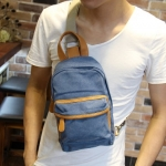 กระเป๋าคาดอก พร้อมส่ง สีดำ / สีน้ำเงิน ผ้าแคนวาส