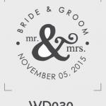 ตราปั๊มงานแต่ง WD030