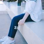 กางเกงเลกกิ้ง สีกรมท่า สกรีนตัวเลข size 5/7/11/13