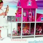 บ้านตุ๊กตาหลังใหญ่(มาก) พร้อมตุ๊กตาบาร์บี้ 3 ตัว