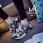 รองเท้าผ้าใบแฟชั่นน้ำหนักเบา ส้นเป็นระบบ air max ช่วยถนอมข้อเท้าและเข่า