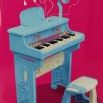 ชุดเปียโนพร้อมไมค์ ชาร์ทไฟบ้านได้ Electronic Organ ส่งฟรีพัสดุไปรษณีย์(PB)****พร้อมส่งสีฟ้า****