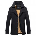 พรีออร์เดอร์ เสื้อแจ็คเก็ตกันหนาวผู้ชาย สีกากี บุขนด้านใน ออกแบบเท่ห์ ใส่กันหนาว