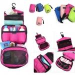 กระเป๋าใส่อุปกรณ์อาบน้ำ เครื่องสำอาง และของใช้ส่วนตัว แขวนได้ กันน้ำ พกพาเดินทางท่องเที่ยว