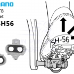 Shimano: SM-SH56 คลีทเสือภูเขาปลดเร็ว