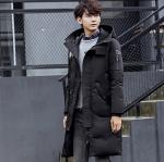 พร้อมส่ง เสื้อโค้ทผู้ชาย โค้ทขนเป็ด สีดำ โค้ทยาวสไตล์เกาหลี ขนเป็ดหนาใส่อุ่น ใส่กันหนาว แฟชั่นผู้ชายสไตล์เกาหลี